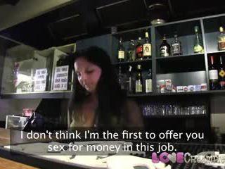 Liebe sahnetorte rallig barmaid gets internal samenerguss auf die bar tabelle