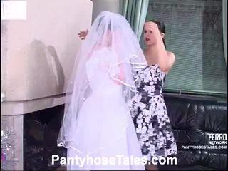 cô dâu, video, quan hệ tình dục đồng tính nữ