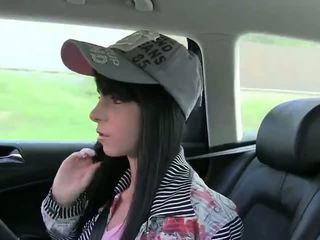 Amatérske gets plné ústa preč cesty v fake taxi