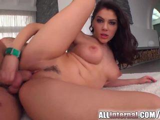 All Internal sensual creampie for Italian big tit babe