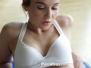 HD PornPros - Kasey Warners workout interrupted by the need for raw sex