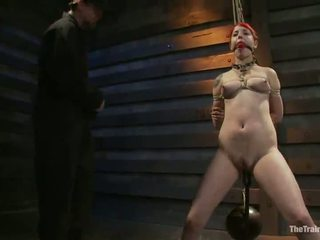 Sloane soleil has suo vag toyed mentre being suspended