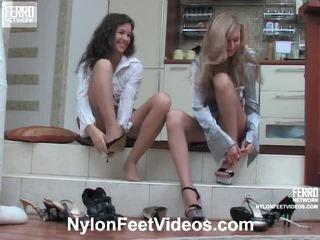 Frances en stephanie geil panty voeten film