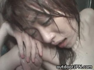 Akari hoshino japán szabadban kemény