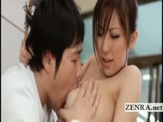 كبير titty اليابانية sultress harumi asano has شمام suckled