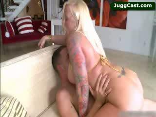 Big Titty blondie Angel Vain riding shaft