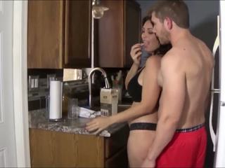 Huge Tits Stepmom wants to fuck a young guy today