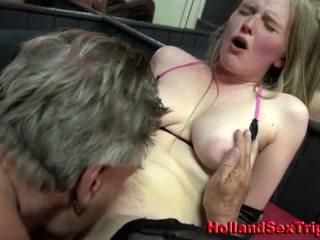 Prostitute gets rimjob and cumshot