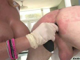 Sophie dee drill ο κώλος του lewd guy με αυτήν dildo