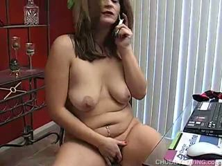 Chubby Pussy Pleasuring Around Her Pussy