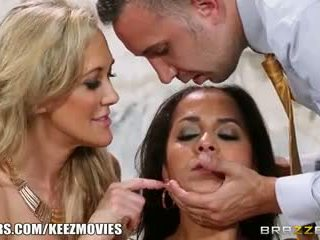 Brazzers - Back ally threesome with Abbey and Brandi