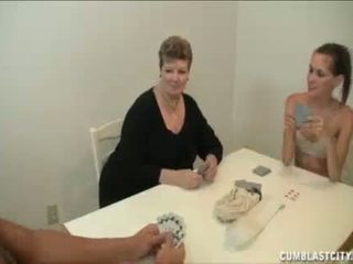 Teen And Mom Busting The Nut Of The Ne...