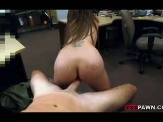Big boobs amateur pawns her tight pussy