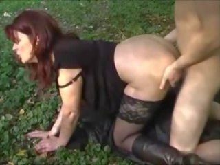 Hot MILF and Young Boy in Outdoor Fuck, Porn 59