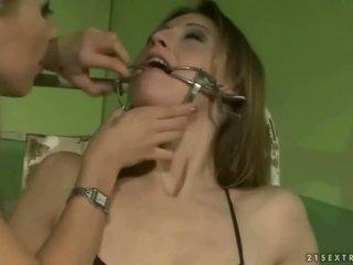 Schoolgirl punishing a slavegirl