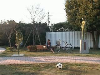 Oosters pop is een statue getting sommige seks