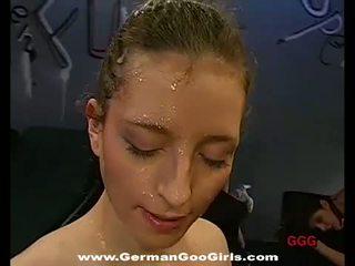 독일의 goo 소녀: 세 청소년 소요 a bunch 의 cocks 에 그들의 holes