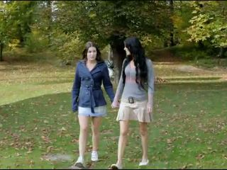 Sexy teens milagres and margot lesbo act