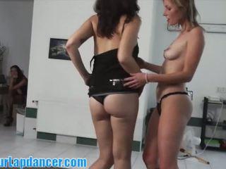 brünette, striptease, erotisch