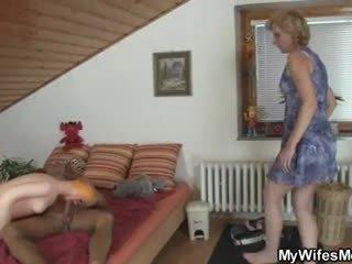 Mother-in-law helps hem sperma