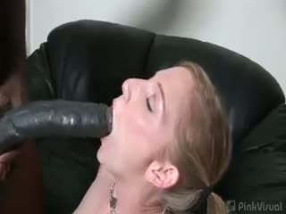 ideal blowjob real, redhead real, interracial