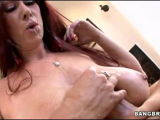 Busty redhead needs a cock