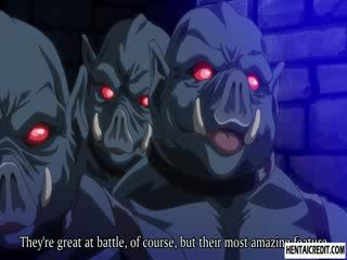 Hentai meisje geneukt door monsters