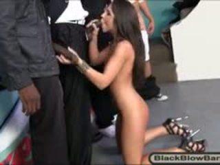 Slutty Brunette Teen Girl Giselle Leon Wrecked By Black Guys