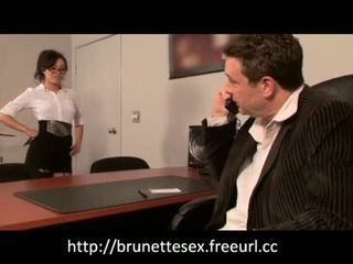 Watch this sexy secretary fuck her boss in the office