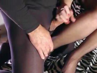 Jāšanās un strūkla melnas neilons pēdas, bezmaksas hd porno bd