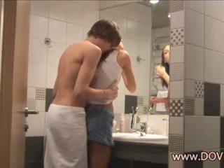 Horký pohlaví v the koupelna
