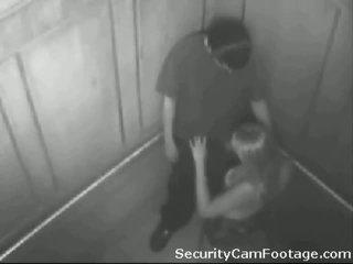 Mesum saperangan on elevator security cam