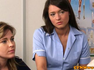 Cfnm nurse Nadia Elainas patient cums