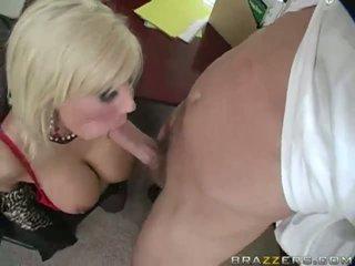 Busty Blonde Milf Sucks Cock And Fucks