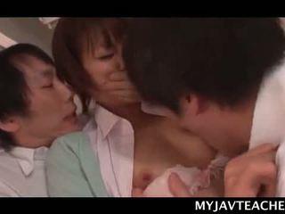 Shy Asian School Teacher Gangbanged By Force By Horny