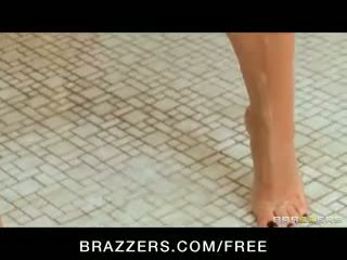 Sexy young slut fucks coach after being caught in school shower