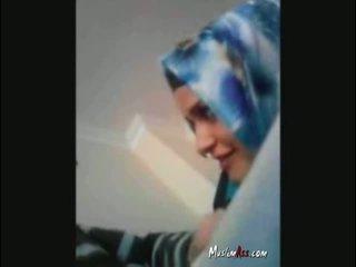 Hijab turks turban zuigen lul