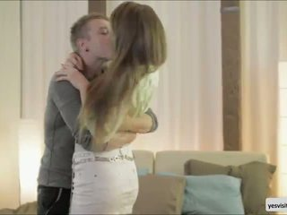 Passionate young couple Taissia and her man Nikolas is enjoying great sex