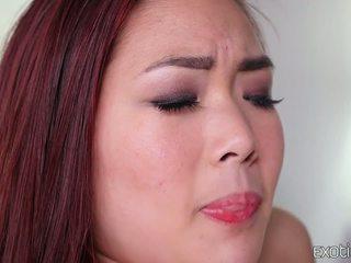 Rasé asiatique ado lea hart chaud baise