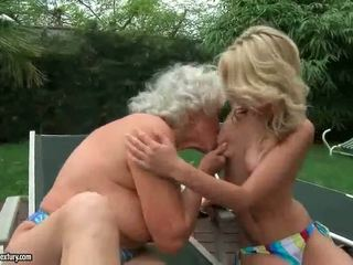 Old and Young Lesbians consummate their Love in a compilation