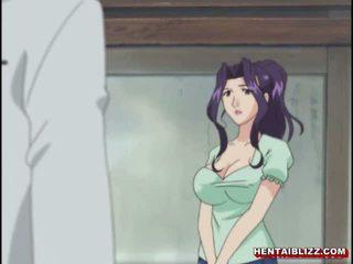 japonais, gros seins, hentai