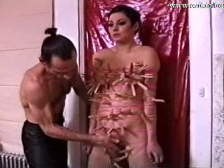 Slave Agnes Pinned with 105 Clothes Pins