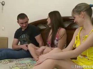 Lucky Stud Joins A Naughty Slumber Party
