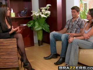 Brazzers - Real Wife Stories - Threesome Therapy Scene