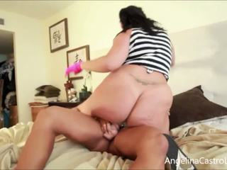 Angelina Castro FUCKED by Trainer with a MASSIVE StrapOn!