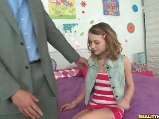Jaunas mokinukė kasey chase pasirinkti į viršų jos mokytojas