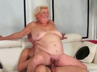starý, babička, výstřik