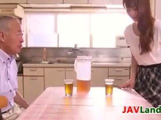 japansk, japan, gammal ung