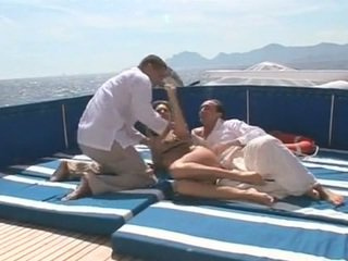 Beauty gets double fucked on a boat