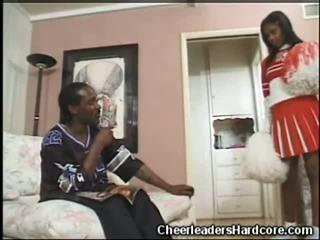 Ebony Cheerleader Blowjob